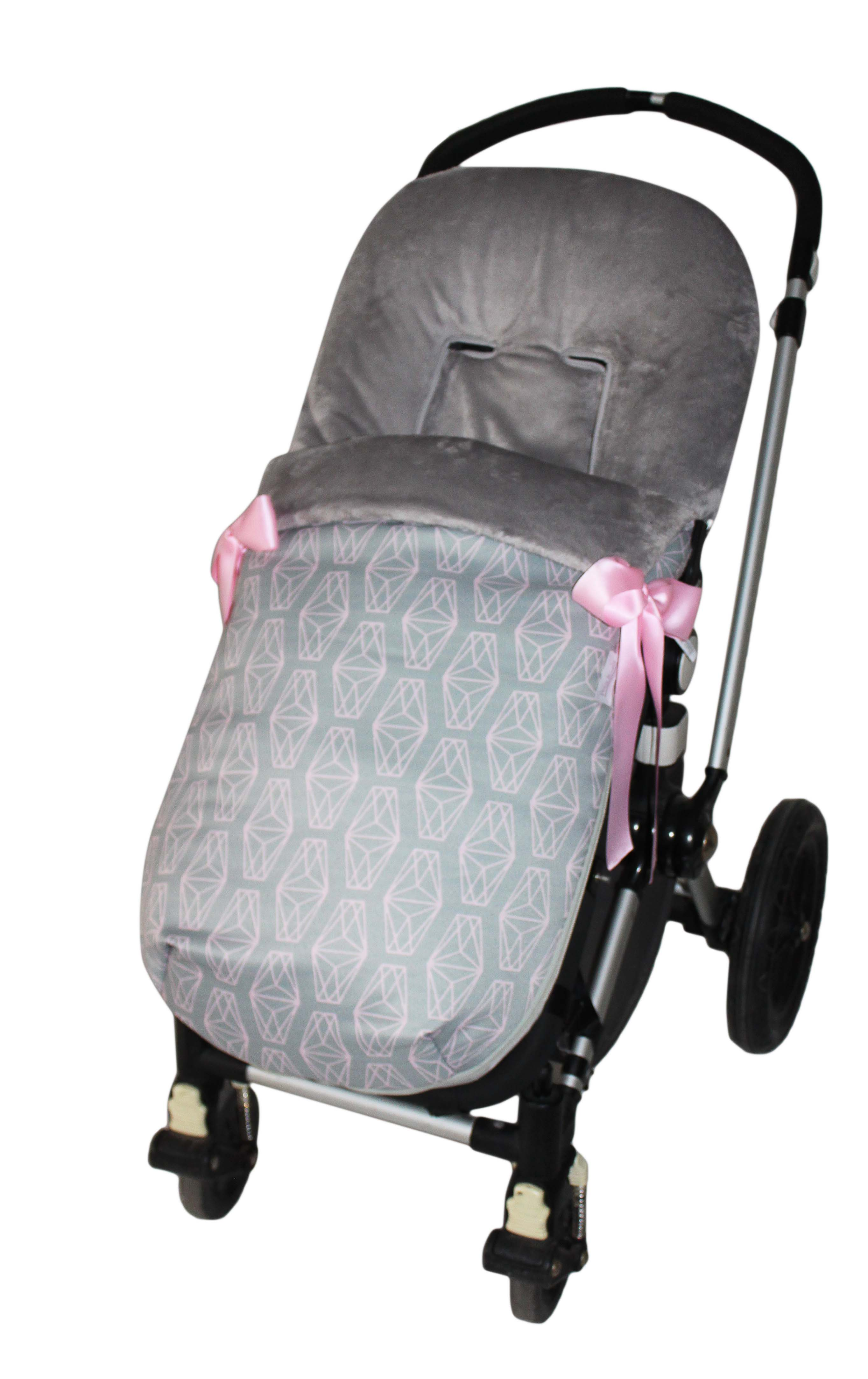 Saco bugaboo invierno diamante rosa pelo gris saco bugaboo invierno diamente r 110 00 - Sacos silla bebe invierno ...