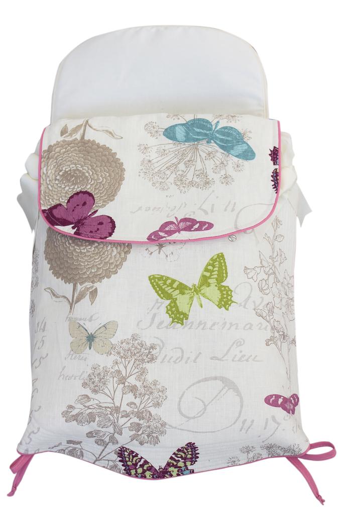 Saco capazo cubre normal invierno modelo mariposas blanco sacocapazo cubre normalinviernom - Sacos silla bebe invierno ...