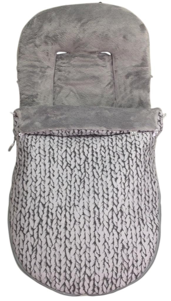 Saco silla paseo invierno modelo ganchillo gris sacosilla paseoinviernoganchillo 110 00 - Sacos silla bebe invierno ...